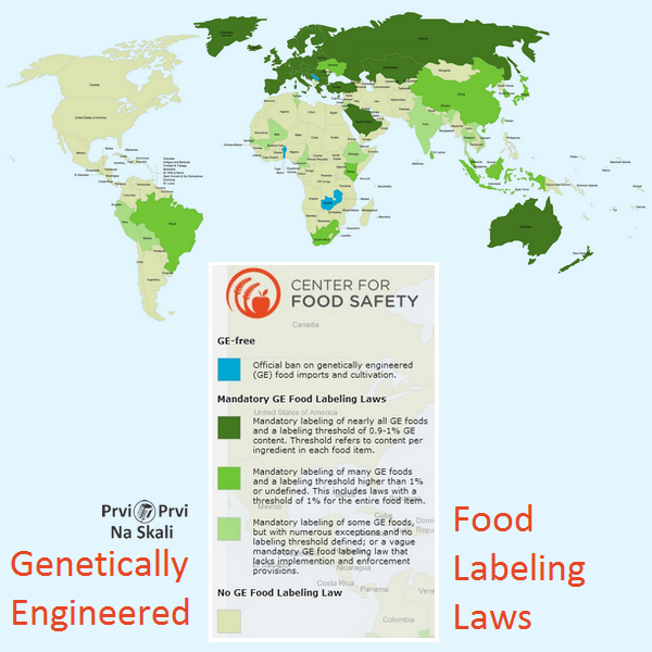 PRVI PRVI NA SKALI Genetically Engineered Food Labeling Laws