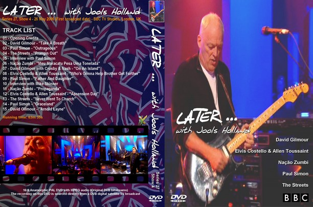 David Gilmour - Later... With Jools Holland 2008