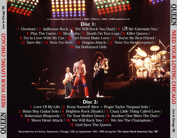 Queen - Chicago, IL 9-19-80