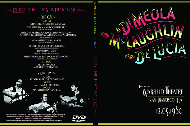 Al Di Meola, John McLaughlin, Paco De Lucia - Warfield Theatre (San Francisco, 1980)