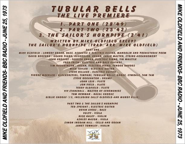 Mike Oldfield & Co. - Tubular Bells, Part 1 (BBC 1973)