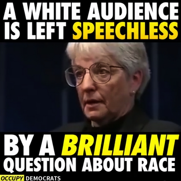 A white audience is left speechless