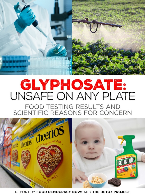 Glyphosate: Unsafe on any plate - FDN Food Testing Report 2016
