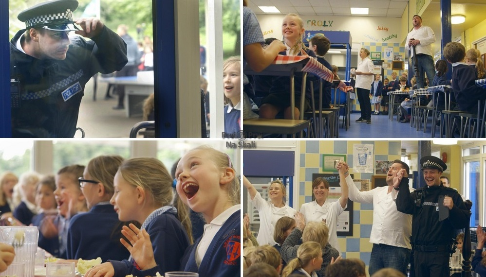 Sacla' Stage a Surprise Opera in a School Lunch Hal