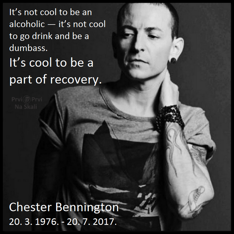 Chester Bennington (1976-2017): It's not cool to be an alcoholic - it's not cool to go drink and be a dumbass (VIDEO)