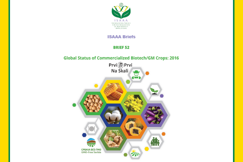 ISAAA Brief 52-2016: Executive Summary - global status of biotech/GM crops