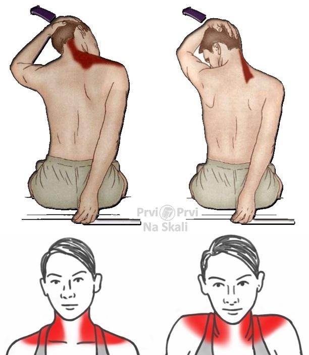 Zgrčeni mišići vrata