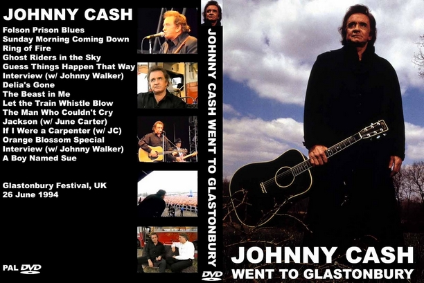 Johnny Cash Went To Glastonbury 1994