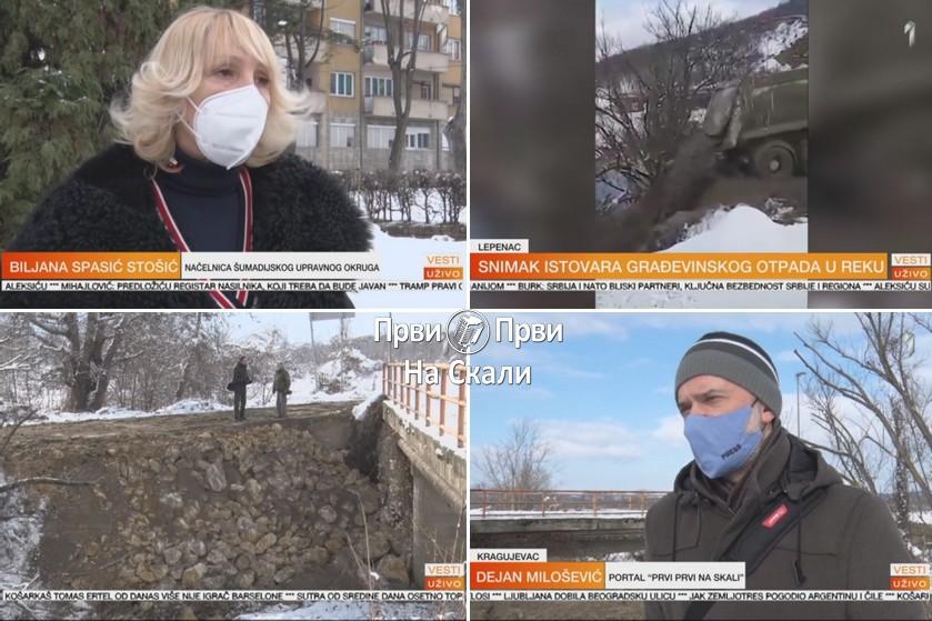 Povodom zagađenja Lepenice: MUP identifikovao počinioca, istraga u toku